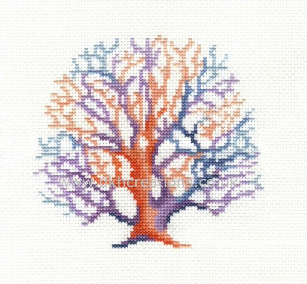 Living Coral Hoop Cross Stitch Kit